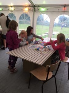 Creative table @ Fornæs Camping, Mormors Café